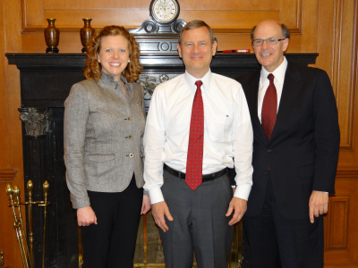 Melissa and George visited George's law school classmate, Chief Justice John G. Roberts, Jr., in April 2013.