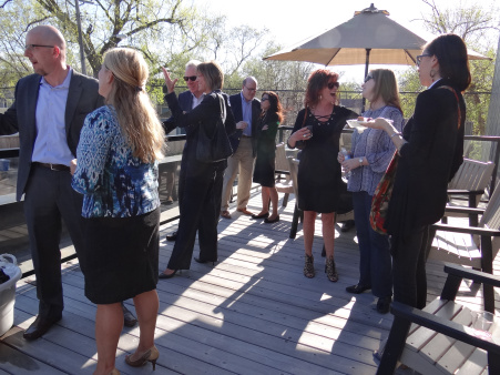 Spring 2015: Hosts and guests enjoyed a beautiful evening on the deck.