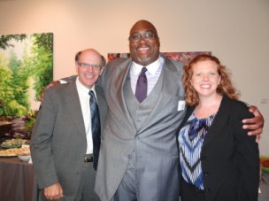 George and Melissa and former partner Christopher Fowlkes.