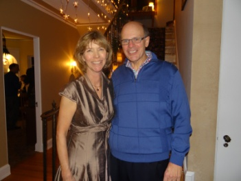 Lisa and George at their 24th Annual Holiday Party in December 2013.