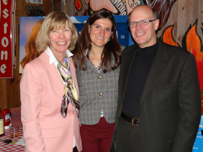 George and his wife Lisa McDonald with Minneapolis Council Member Linea Palmisano.