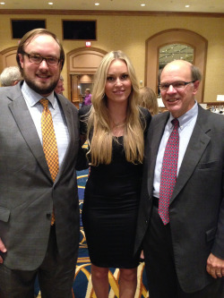 Spring 2015. Ike Messmore, Lindsey Vonn and George at 2015 Legal Aid Society Law Day Dinner. Ms. Vonn supports Legal Aid too, and skis a little.