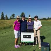 Helen Meyer, George, Melissa, Anton van der Merwe played in the MAIBA Scholarship Golf Tournament on July 23, 2015.