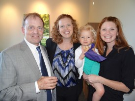 Michael Miller, Melissa, daughter Emma, and Sister Megan.