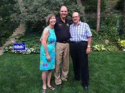Lisa & George with Hennepin County Sheriff Rich Stanek in August 2014.