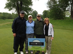 Matt Birkenholz, Melissa, George and Sheryl Bjork at the 2015 Hennepin County Sheriff Foundation Shoot for the Stars Golf Tournament