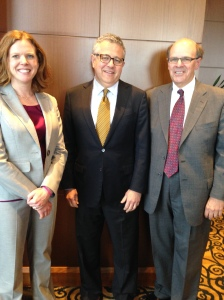 Melissa and George with Jeffrey Toobin at the Civil Litigation Section Annual Meeting