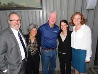 Judge Paul Scoggin, Judge Susan Burke, John, Meghan, Melissa in October 2016.