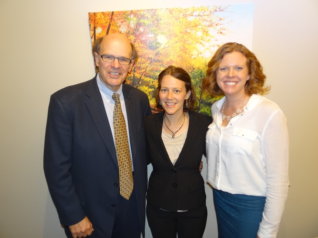 George and Melissa with our newest lawyer Meghan Feliciano.