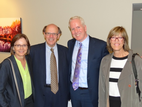 Susan Holden, George, Judge Christian Sande, Judge Jill Flaskamp Halbrooks in October 2016.